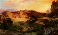 a water pocket, northern arizona by thomas moran