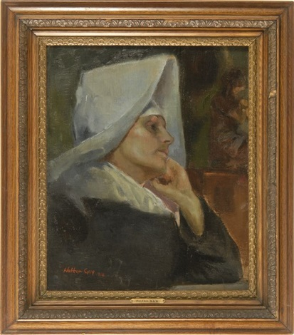 portrait of a nun by walter gay