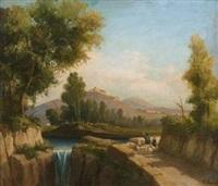 paesaggio con cascata by domenico ammirato
