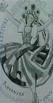 plakat fur das volksmusik festival in prag, 1948 by karel svolinsky