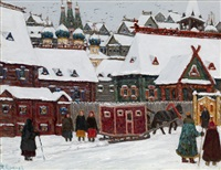 old moscow by vladimir nikolaevitch aralov