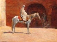 cavalier dans la cour by louis-ferdinand antoni