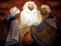 sans titre (trois musulmans en conciliabule) by toffoli