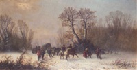 caravans in the snow by edouard ferey