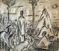 preaching on the mount of olives by alois wachsman