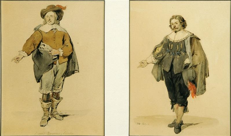 portrait de david bernier another pair by jean baptiste madou