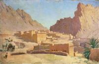 village marocain dans la vallée by henry edward detmold