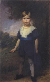 portrait d'enfant au fouet by charles auguste mengin