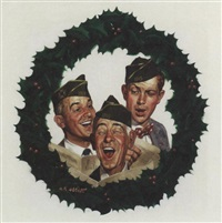 three generations of veterans singing christmas carols by robert kennedy abbett