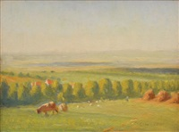 landscape with cattle by charles wheeler locke