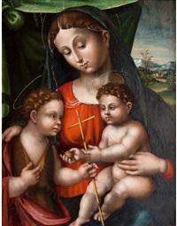 madonna con il bambino e san by innocenzo di pietro (da imola) francucci