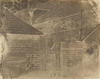vue de la cour à saint-calais by alphonse louis poitevin