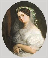 a menyasszony - calderoni anna a művész későbbi feleségének portréja by henrik weber
