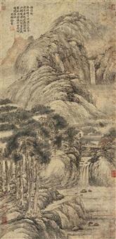 濯清轩图 (landscape) by xu ben