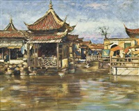 a tea house, shanghai by mortimer luddington menpes