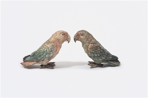 lovebirds pair by austrian school vienna 20