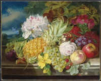 still life with fruit and flowers by john wainwright