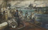 prise d'un sous-marin allemand by dominique charles fouqueray