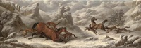 horses ambushed by wolves by charles towne
