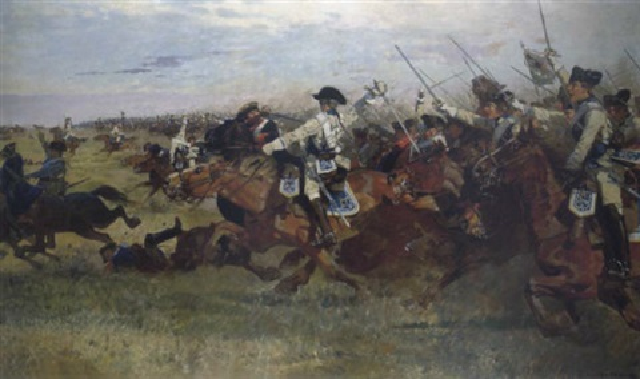 Motiv Aus Dem 7 Jhrigen Krieg Die Schlacht Bei Rossbach Am 5november 1757