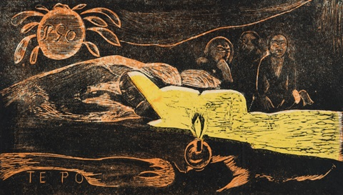 te po la grande nuit by paul gauguin