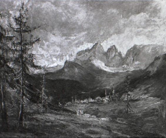 gebirgslandschaft by hans heider