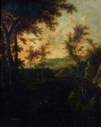 scène pastorale aux abords d'une rivière by jan gabrielsz sonje