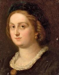 portrait einer dame mit biedermeierschmuck by joseph resch