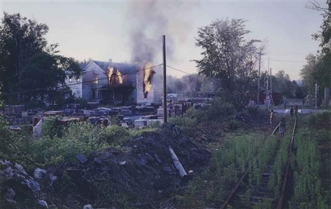 untitled house fire from beneath the roses by gregory crewdson