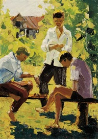 playing chess by rufel fedorovich mikhailov