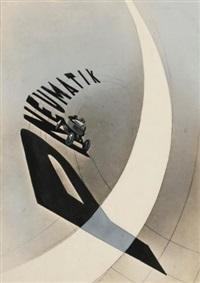 advertising poster (pneumatik) by lászló moholy-nagy