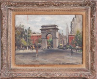 summer (washington square) by alfred s. mira