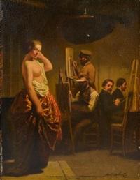 l'atelier de peinture by adolf alexander dillens