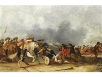 a cavalry charge by jan de martszen the younger