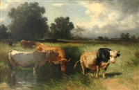 herder and cattle by conrad bühlmayer