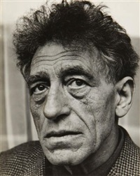 portraits d'alberto giacometti, sculptant (4 works, various sizes) by özkök lütfi