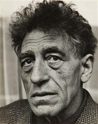 portraits d'alberto giacometti, sculptant (4 works, various sizes) by özkök lütfi