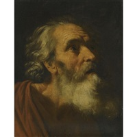 head of a male saint (saint peter?; study) by hendrick van somer