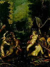 diana und kallisto mit jagdgefährtinnen und nymphen by gillis van valckenborch