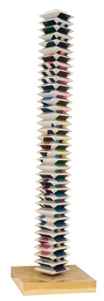 beyond the visible - multidimensional tower by yaacov agam