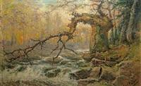 le vieux chêne de la hoëgne en ardennes by leopold muller