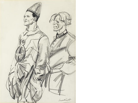 clowns for carnos circus by dame laura knight