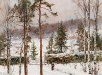 snowfall by yuliy yulevich (julius) klever