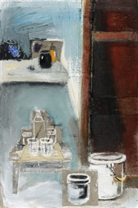 still life in the studio by haim senior
