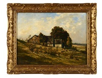 berger et ses moutons by louis humbert