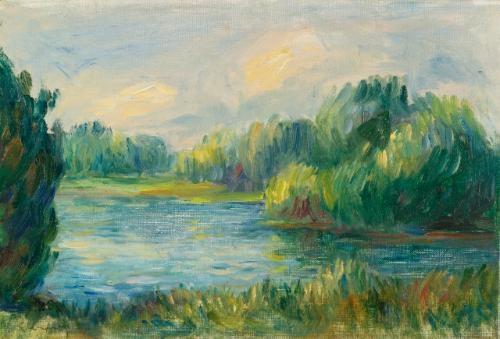 bord de rivière by pierre auguste renoir