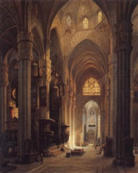 interior of milan cathedral by maximilian albert hauschild