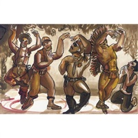 village people/la danse by nicole eisenman