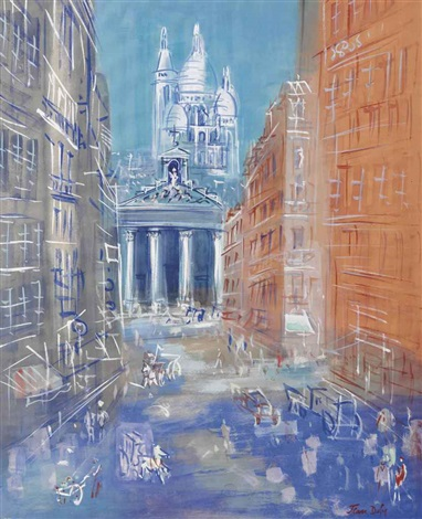 paris rue laffitte by jean dufy