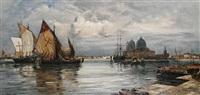 trading vessels before santa maria della salute, venice by max klodic